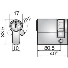 ASSA FP523 EURO SINGLE CYLINDER DC