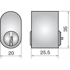 ASSA FP501 SCANDINAVIAN OVAL CYLINDER DC