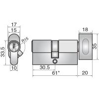 ASSA FP527 EURO CYLINDER & TURN DC